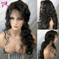 Peruvian Virgin Hair Lace Front Human Hair Wig For Black Women Natural Wave With Baby Hair Full Lace Human Hair Wigs 150 Density