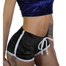 ed0cf7e4f4 YOUYEDIAN de las mujeres de la moda es Mediados de cintura con cordón verano  damas Sexy pelota caliente pantalones cortos ajusta.