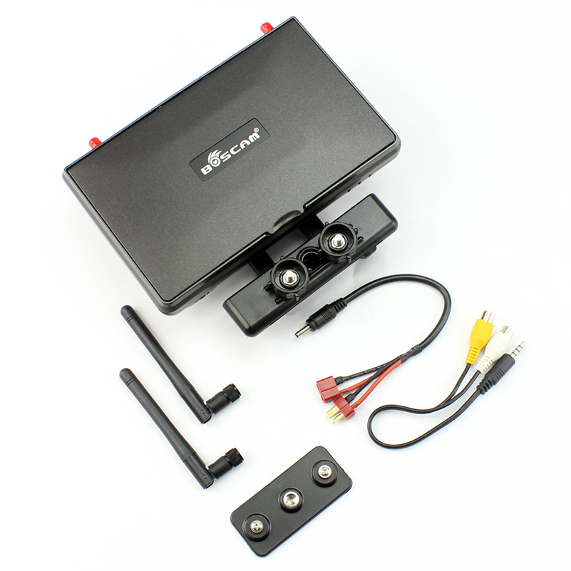 Boscam Galaxy D2 7in FPV Monitor/ Display Built-in 5.8G 32CH Dual Receiver with Holders, 4000mAh Battery and Sun Hood  F17950 boscam 5 8ghz cloud spirit antennas txa and rxa a pair in one set multicolored