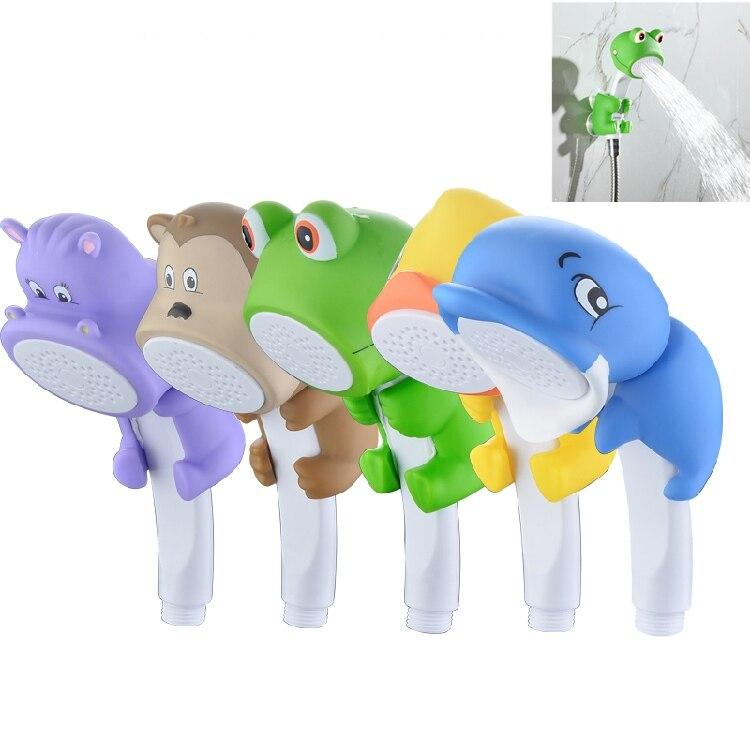 New cartoon shower head water saving children kid Bath Toy Bathroom Hand Shower Water Booster Faucet bathroom accessories