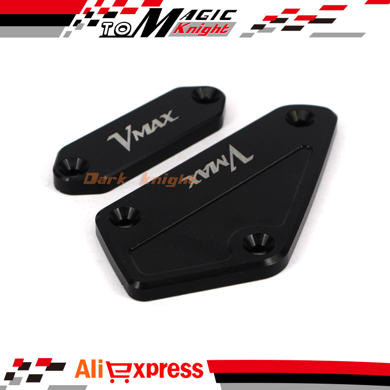 For YAMAHA V-MAX VMAX 1700 2009-2015 Black Motorcycle CNC Front Brake Clutch Master Cylinder Fluid Reservoir Cover Cap стоимость