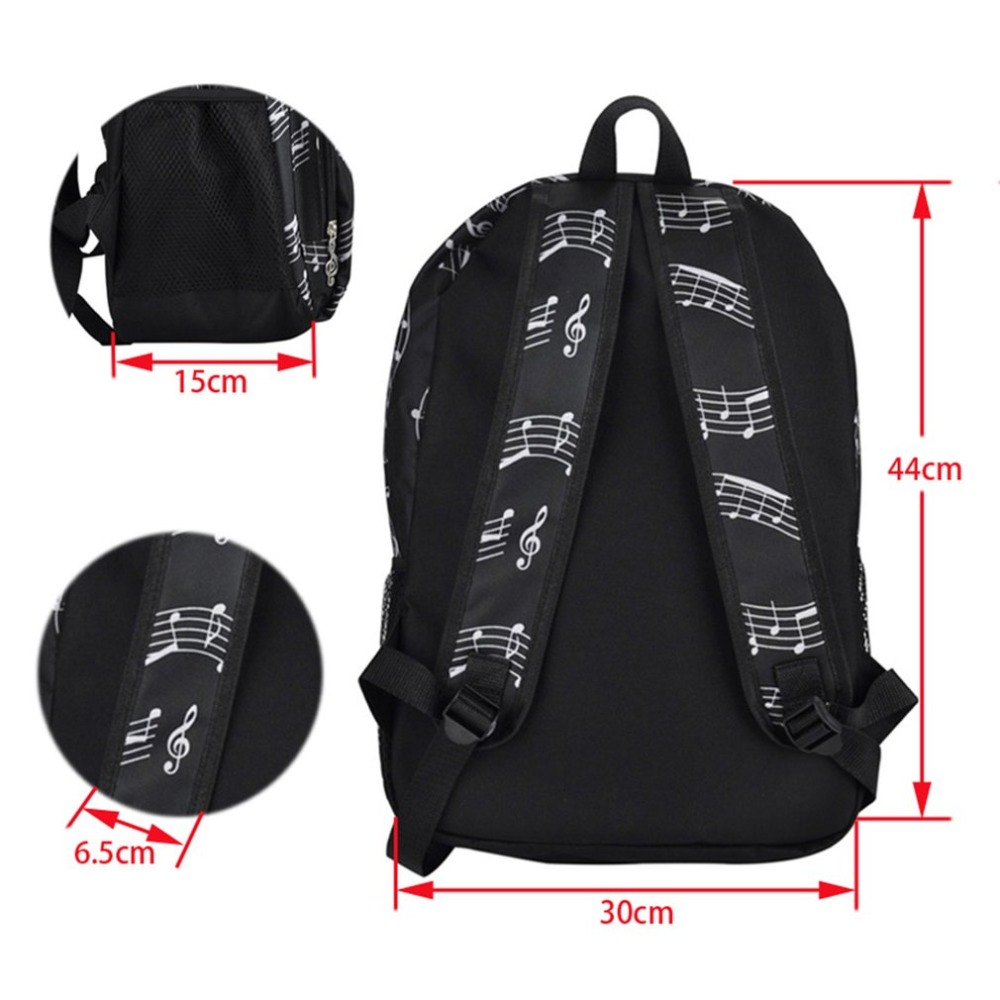 Piano Keyboard Printed Durable Oxford Cloth Backpack Casual Unisex Travel Students Backpack School Bag Men Women Mochila Backpacks