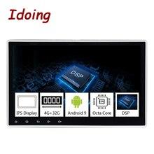 Idoing 1Din 10,2 «PX5 4G + 32G Восьмиядерный Универсальный Автомобильный GPS DSP радио плеер Android 9,0 ips экран навигация Мультимедиа Bluetooth