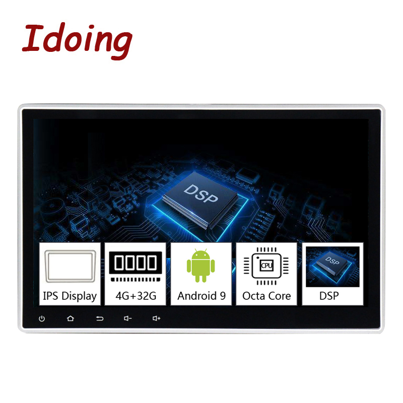 Idoing 1Din 10.2PX5 4G+32G Octa Core Universal Car GPS DSP Radio Player Android 9.0 IPS screen Navigation Multimedia Bluetooth