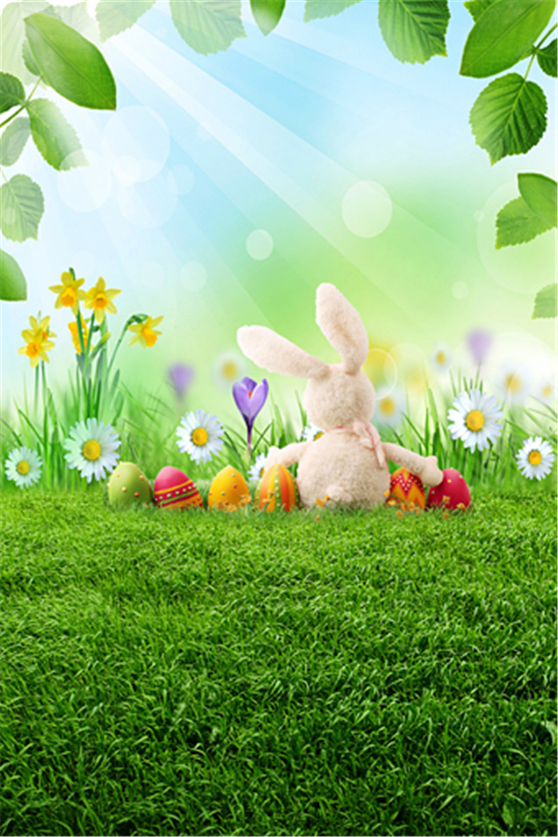 Happy Easter Vinyl Backdrop For Photography Colorful Eggs