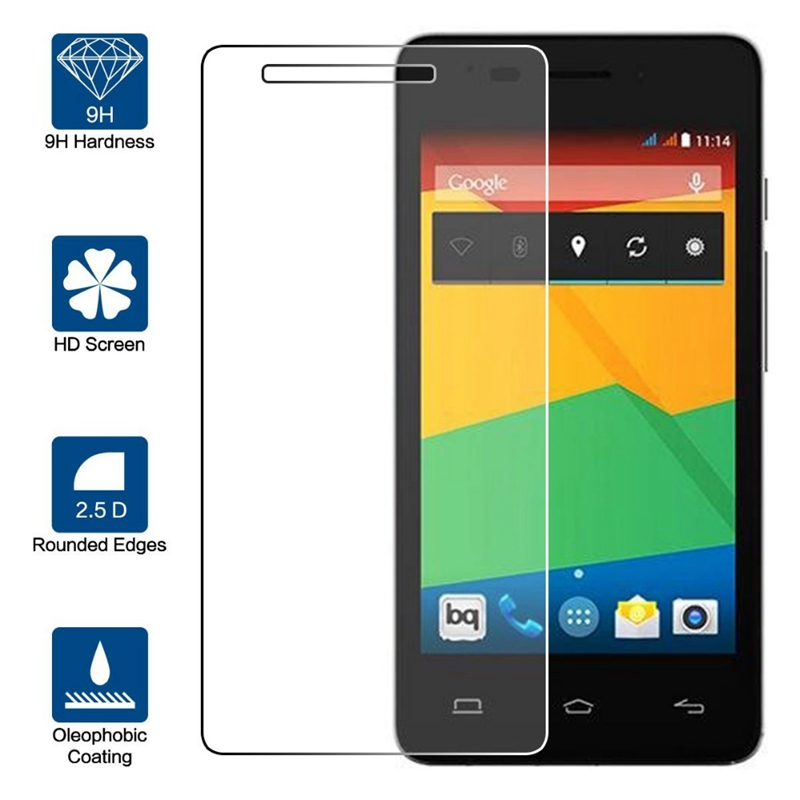 Tempered Glass For BQ Aquaris E4 E4.5 E5 E6 BQ M5 M4.5, Screen Protector Protective Screen Film