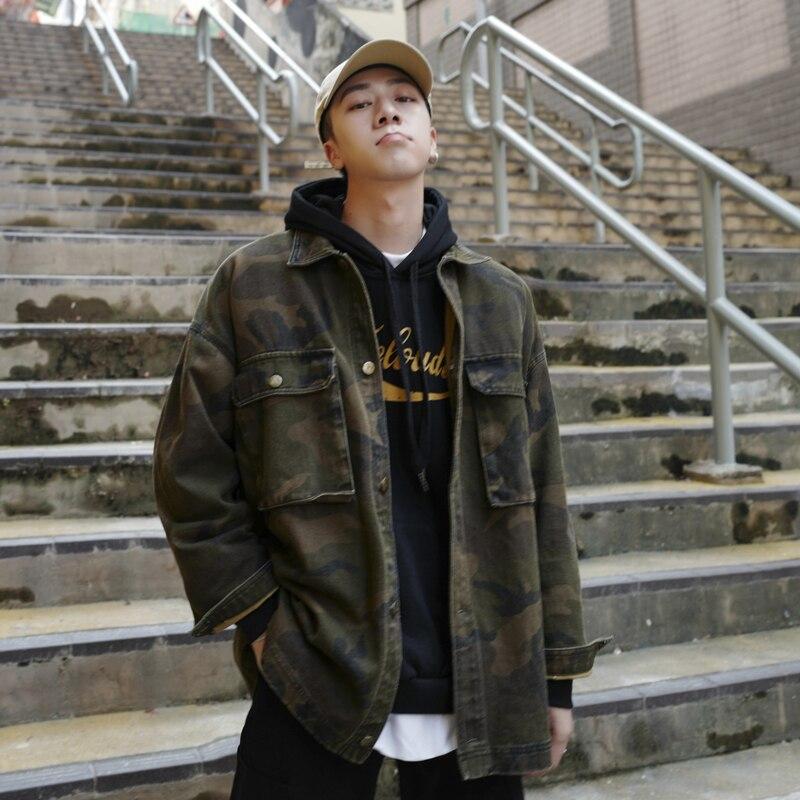 2019 hommes camouflage veste manteau Hip Hop Camo taille M-XL