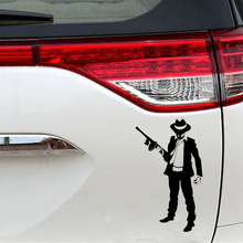 10.2cm*17.3cm Mafia Gangster Gun Bandit Vinyl Stickers Decals Rear Window Car