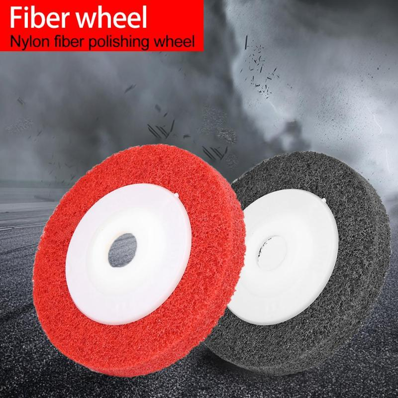 Non-woven Nylon Fiber Wheel Polishing Pads Abrasive Discs Metal Wood Buffing Grinding Disc Abrasive Tool