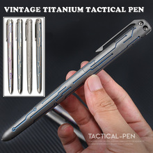 Creative Titanium Tactical Pen Self Defense Emergency Window Breaker Business Writing Outdoor EDC Tool Collection Gift