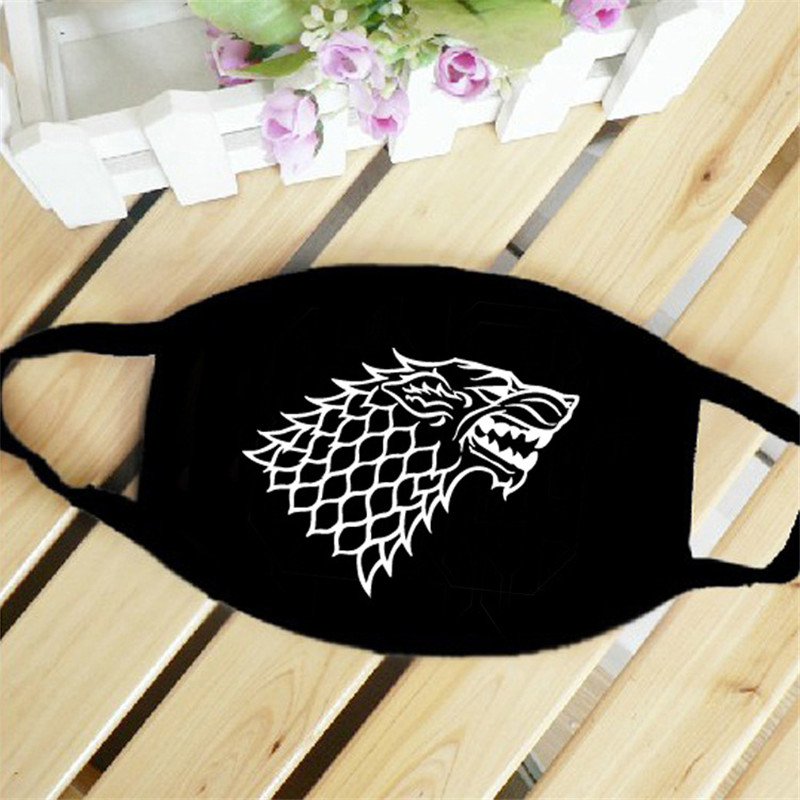 Game Of Thrones Stark Dragon Mouth Face Mask Dustproof Breathable Women Men Cotton Riding Mask Fashion Accessories