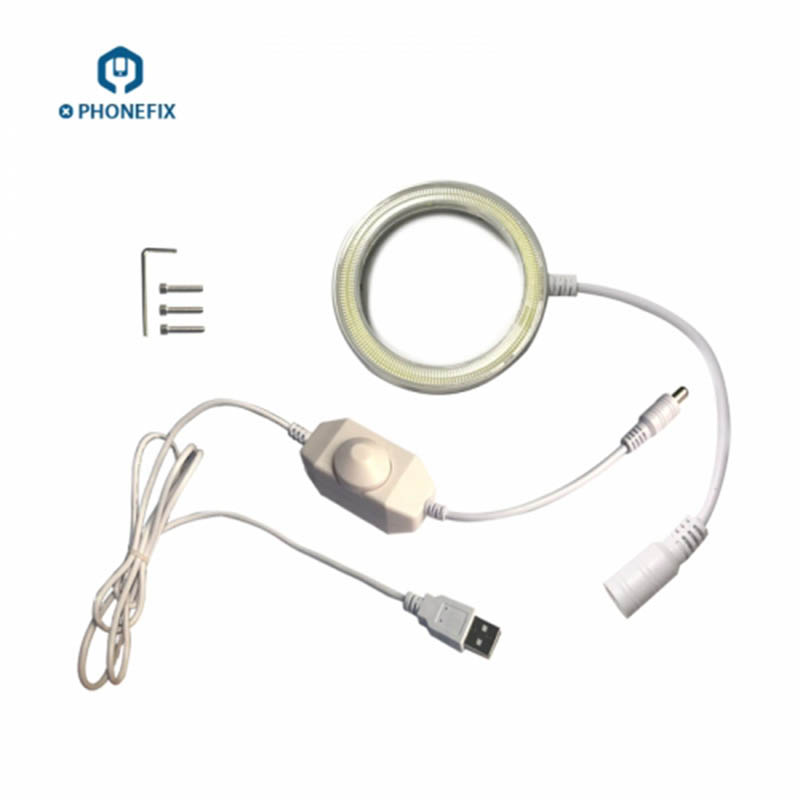 5V USB Adjustable Brightness Microscope Led Ring Light With 60 Pcs LED Beads Circle Lamp For Illuminating Phone PCB Repair