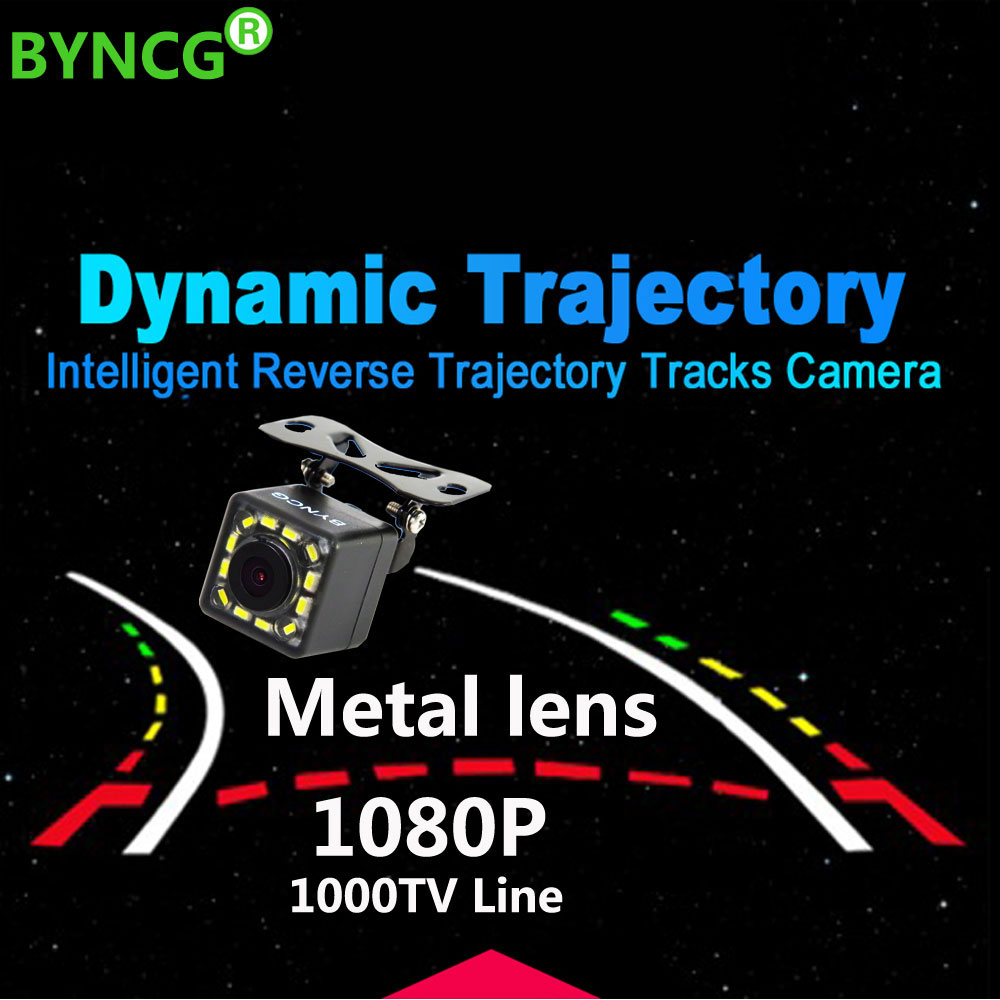 2019 New Dynamic Trajectory Universal 12 Lights CCD HD Color Waterproof Car Rear View Camera Backup Night Vision Parking Camera