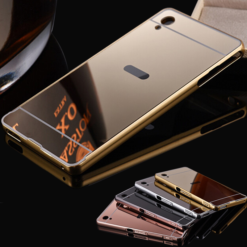 huge selection of 6fd8d 38108 Mirror Case For Sony Z3 Aluminum Bumper Case For Sony Xperia Z1 Z2 Z3 Z3  Compact Z5 XA M4 Aqua Metal Frame Phone Bags Cover-in Phone Bumper from ...