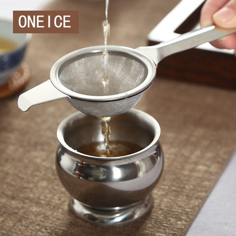 Free Shipping Tea strainers strainer White porcelain Satisfy Buddha Stainless steel tea holder Ceramic Filter