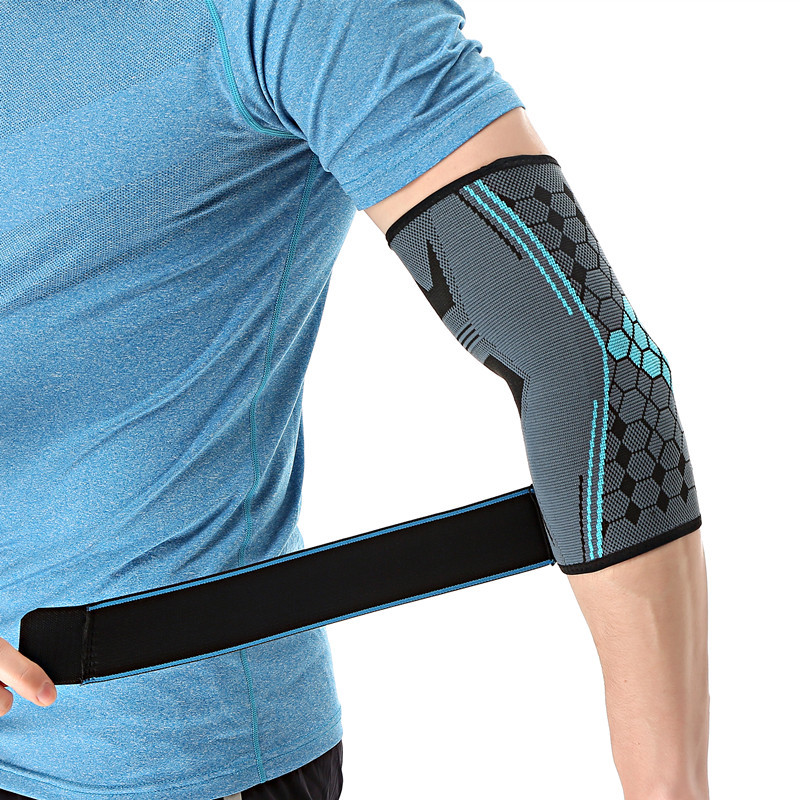 Elbow Brace Compression Support Sleeve Fitness Adjustable Elastic Bandage Breathable Lengthen Elbow Support Outdoor Sports цена и фото