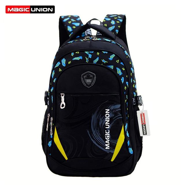 MAGIC UNION Children School Bags Brand Design Child Backpack In Primary School  Backpacks For Boys And Girl Mochila Infantil Zip 035e49fba596e