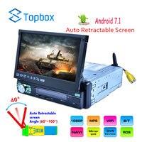Topbox 1Din Android 7 ''автомобиль радио gps навигации MP5 мультимедийный плеер Bluetooth Авторадио с сенсорным экраном Зеркало Ссылка аудио стерео