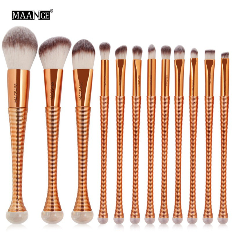 12Pc Makeup Brushes Professional Eye Shadow Foundation Eyebrow Brush Cosmetic make up Tool g056 professional makeup brush weasel hair ebony handle make up eyeshadow brushes cosmetic tool angled eye nose shadow brush