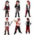 Traje de Halloween para o Menino Meninos Das Crianças Dos Miúdos Trajes Do Pirata Fantasia Infantil Roupas Cosplay