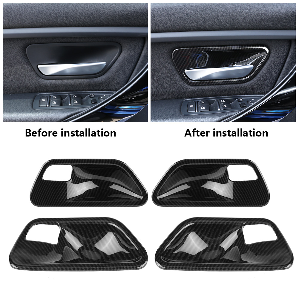 4Pcs Car Interior Door Handle Cover Car ABS Interior Door Handle Cover Trim Bowl forBMW 3 Series F30 4 Series F32 2014-2018(China)