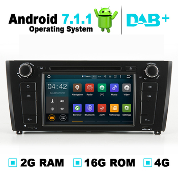 2G RAM Android 7.1 Car DVD Player Autoradio GPS Navigation System Media Stereo For BMW 1 Series E81 E82 E88 Support 4G Wifi image