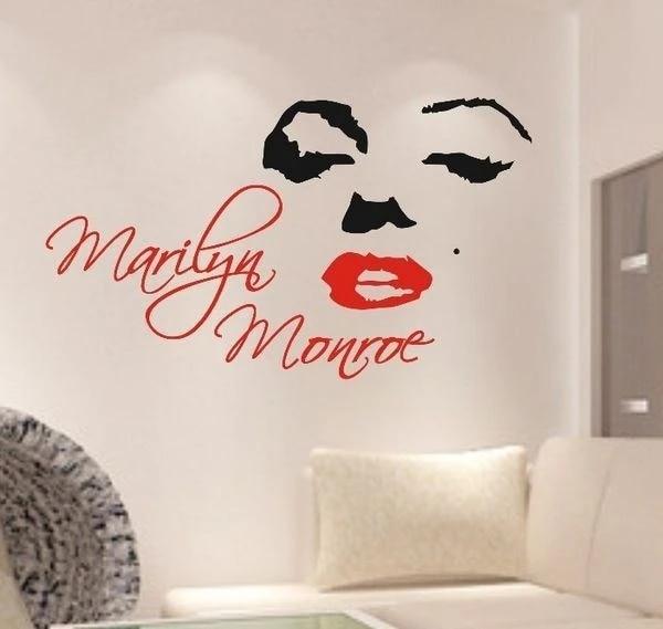 00038 Wall Stickers Adesivi murali Marilyn Monroe 100x79cm