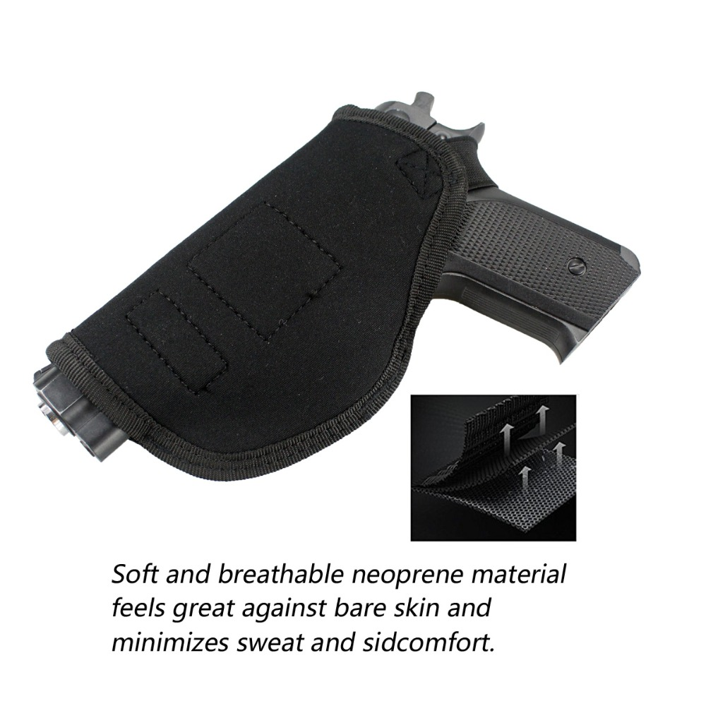 Concealed Carry Universal Neoprene Iwb Holster With Extra Mag Sarung Pistol Airsoftgun Tersembunyi Zj Mb124 Bk1 Bk2