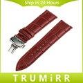 16mm faixa de relógio de couro genuíno + ferramenta para moto 360 2 42mm mulheres huawei talkband b3 wrist strap butterfly fivela de cinto pulseira