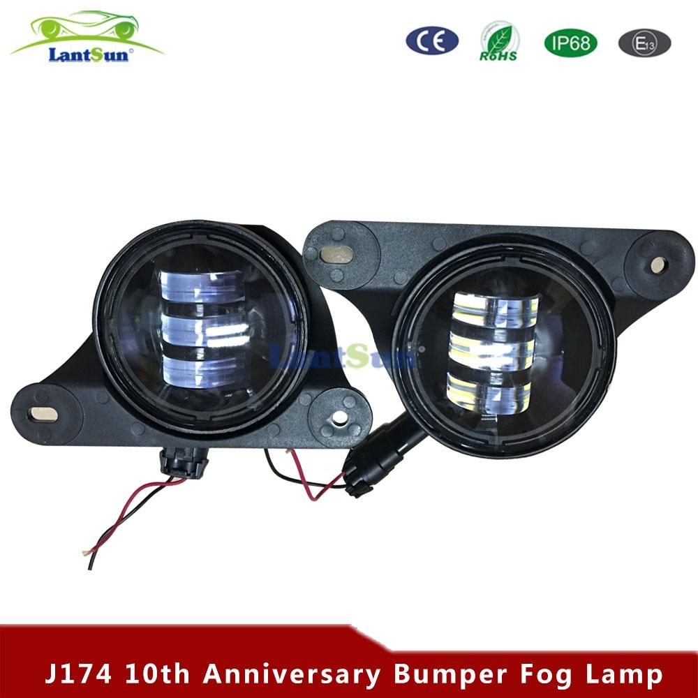 Pair J174 6500K 30w 4 Inch Led Fog Fits متناسب با سپر - چراغ های اتومبیل