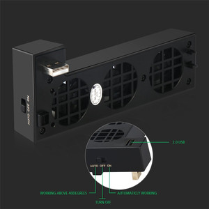 Image 3 - For XBOX ONE X Console Cooler External 3 Fans Supper Turbo High Speed Cooling system Fan for Microsoft XBox One X Game Console