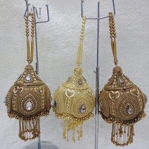 Image 3 - DOYUTIG luxe femmes fait à la main perlée pochettes Vintage cristal perlée sac à bandoulière pour dame sacs de mariage sac de soirée F669
