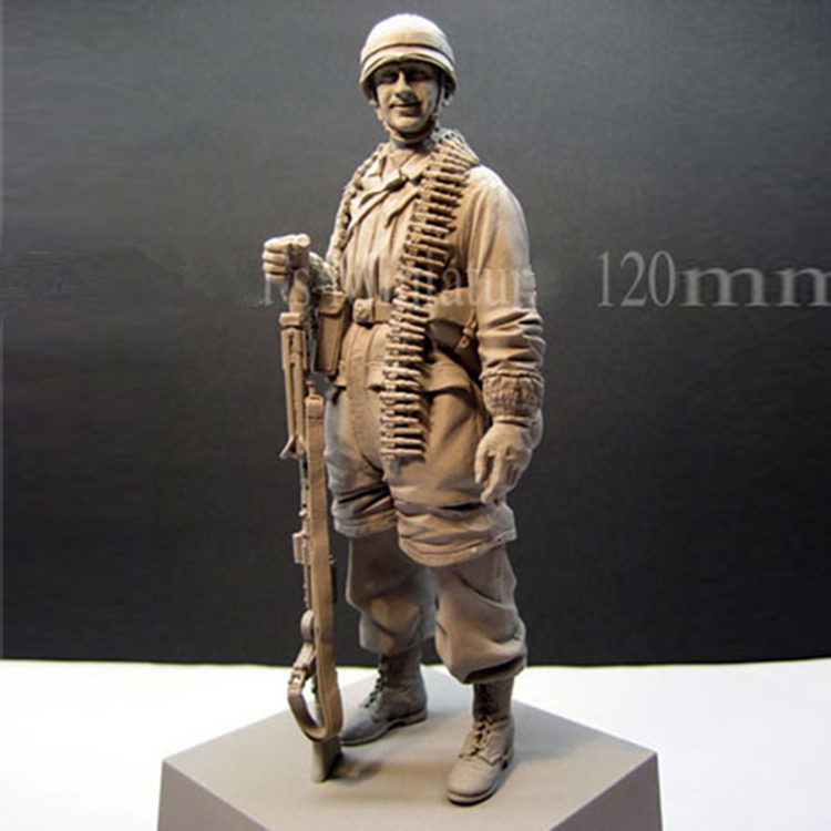 1/16 resin figures resin kits WWII soldiers figure resin Paratroopers historical Free shipping 159G scale models 1 16 120mm soviet soldier ww2 120mm figure historical wwii resin model free shipping
