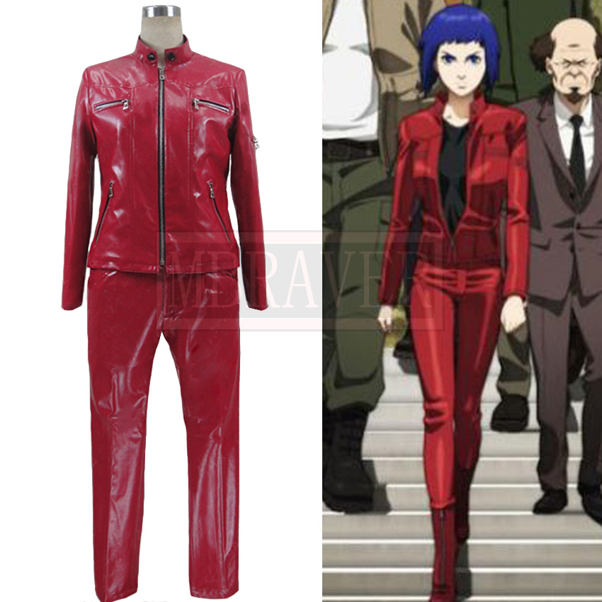 Game Anime <font><b>Ghost</b></font> <font><b>in</b></font> <font><b>the</b></font> <font><b>Shell</b></font> ARISE Kusanagi Motoko Uniform Suit Cosplay <font><b>Costume</b></font> Custom Made Any Size image