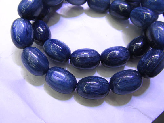 high quality Natural Kyanite Gemstone Drum Rice Round Blue flashy Evil eyes Beads 8X12-12X16mm 8inch Braceletehigh quality Natural Kyanite Gemstone Drum Rice Round Blue flashy Evil eyes Beads 8X12-12X16mm 8inch Bracelete