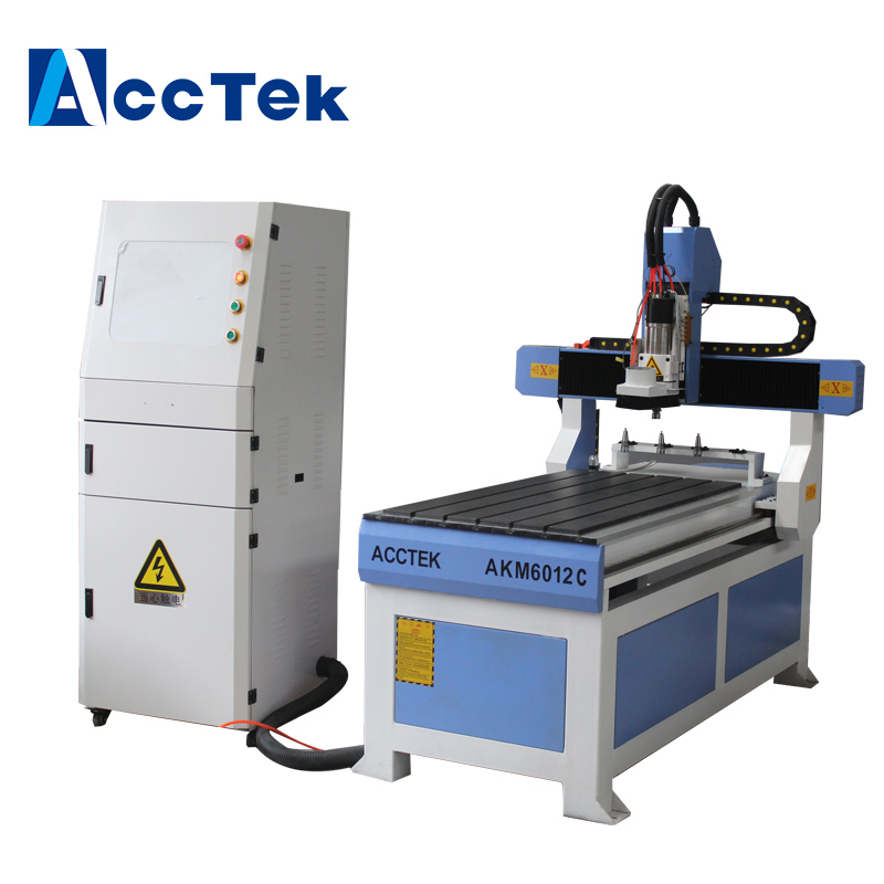 Acctek small size Linear ATC cnc milling engraving machine AKM6012C with 4 tools changer