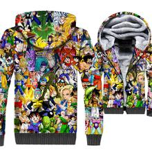 Dragon Ball Z Anime 3D Hoodies Men 2019 Winter Harajuku Jackets Thick Warm Fleece Hooded Brand Sweatshirts Hip Hop Streetwear off grid pure sine wave solar inverter 24v 220v 2500w car power inverter 12v dc to 100v 120v 240v ac converter power supply
