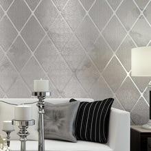 3D Non-Woven Paper Flocking WallPapers Modern Simple Imitation Marble Tiles Striped Wallpaper Living Room TV Sofa Backdrop Decor