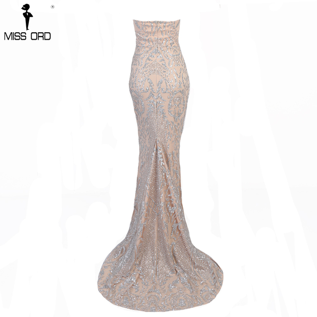 Missord 2019 Sexy Elegant Christmas Off Shoulder Glitter Backless  Geometry Female  Floor-Length Party Dress  FT8911-1 4