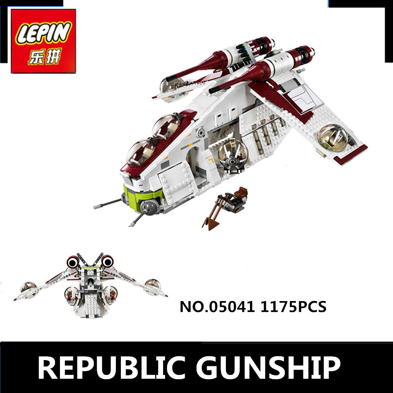 IN STOCK Lepin 05041 Star Genuine Series The The Republic Wars Gunship Set Educational Building Blocks Bricks Toys 75021 Gifts цена