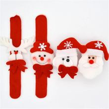 New Year Party Santa Wrist Clap Circle Snowman Elk Snap Ring Chrismas Patted Circle Christmas Bracelet Gifts Childrens Gag Toy(China)