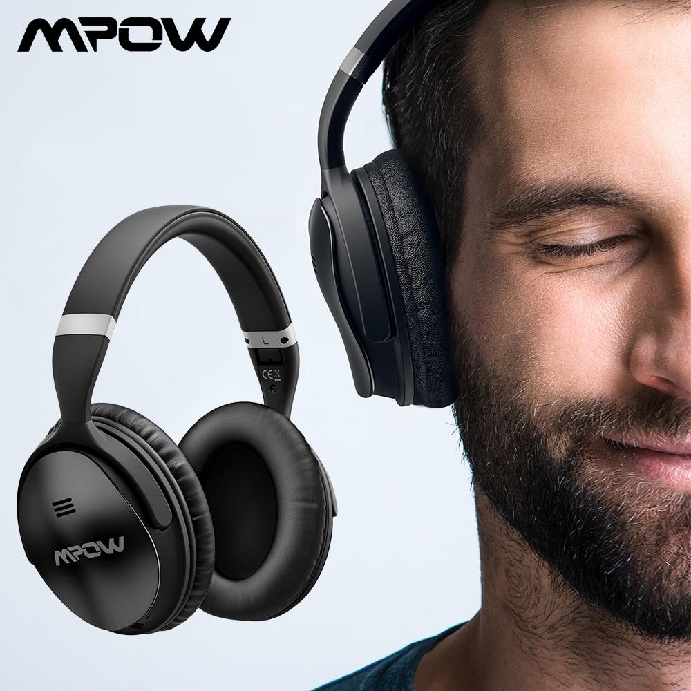 D'origine Mpow H5 bluetooth sans fil Casque ANC Active Noise Cancelling Casque Avec Sac de Transport Pour Tablet TV Smartphone