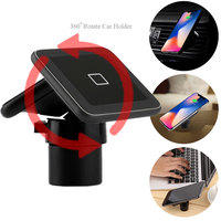 360 Degree Rotating Holder Wireless Charger 10W QI Fast Charging Dual Charge Transmitter For iPhone Samsung S8 S9 S7 Edge Plus