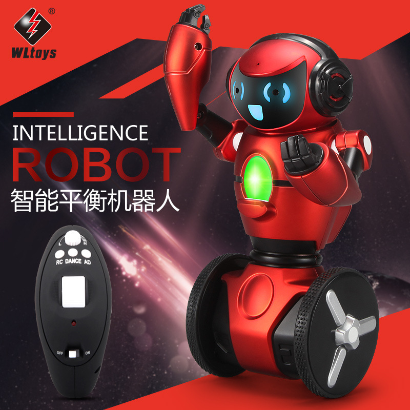 Amzing WLtoys F1 Light weight 2.4G Intelligent Balance Robot G-Sensor Remote Control Toy RC Robot Model Kids Gift funny fun