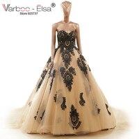 Szata De Mariage Princesse Sweetheart Haft Suknie Ślubne W Stylu Vintage Złoty/Black/Red Lace Up Powrót Suknia Ślubna suknie