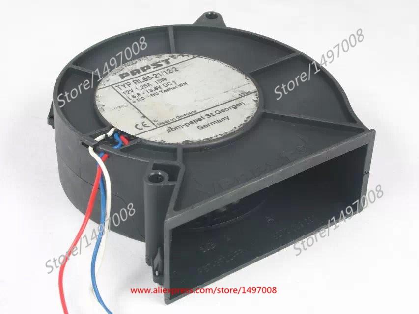 PAPST TYP RL65-21 / 02/12 DC 12V 15W 97x97x33mm Сервер нагнятальных вентылятар