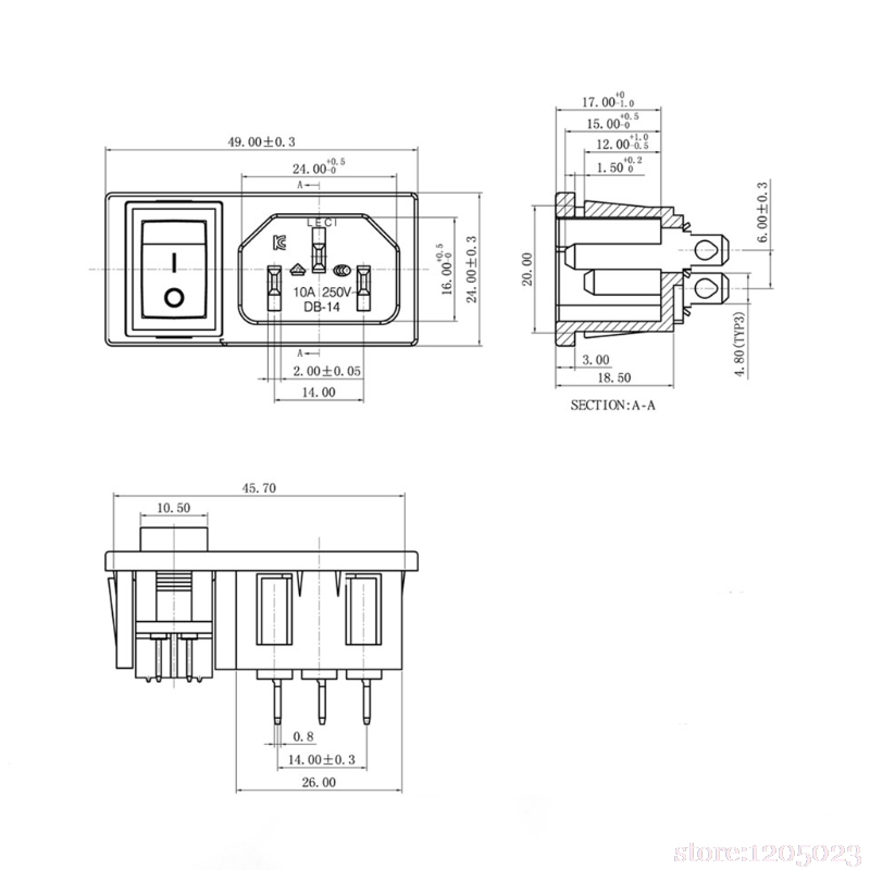 new 10a 250v ac spst rocker switch 3 pin iec320 c14 inlet module SPST Switch Wiring Diagram new 10a 250v ac spst rocker switch 3 pin iec320 c14 inlet module plug in switches from lights \u0026 lighting on aliexpress com alibaba group