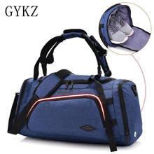 GYKZ 2018 multifuncional bolsa de viaje gimnasio bolso con bolsillo zapatos  independiente hombres y mujeres Deporte Fitness moch. 77d5a9839c8ba