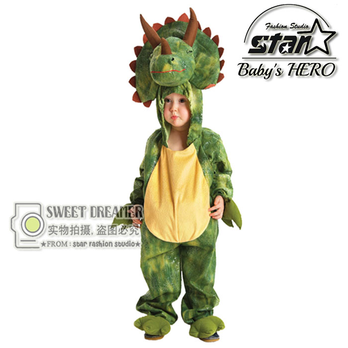 Toddler Baby Infant Unisex Animal Triceratops Plush Cute Costume Set Kids Boys Girls Halloween Lovely Cosplay Stuffed Costume brand infants costume series animal clothing set lion monster owl cow clasp elephant kangroo baby cosplay cute free shipping page 1