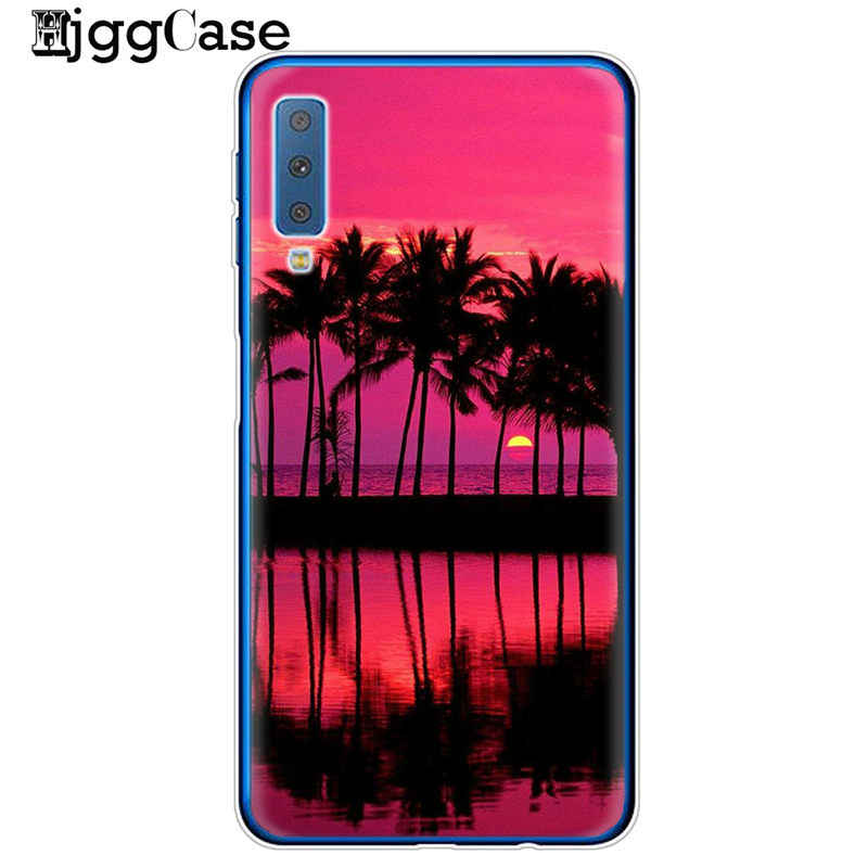 For Samsung Galaxy A7 A750 Summer Beach Relax Starfish Ocean Sky Sun Silicone Soft TPU Phone Cases For Coque A6 A8 A7 2018 Cover